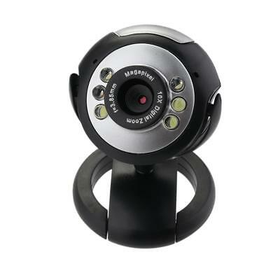 HD 12.0MP 6 LED USB Webcam Camera with Mic Night Vision for Desktop PC Laptop MT