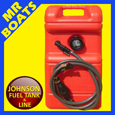 22 Litre OUTBOARD FUEL TANK ✱ JOHNSON FUEL LINE + GAUGE ✱ Boat Portable Petrol