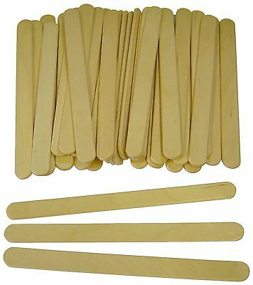 STANDARD SIZE PLAIN WOODEN LOLLIPOP ICE LOLLY CRAFT STICKS 112mm x 10mm 7066-MB