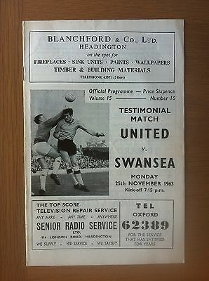Oxford United V Swansea Town 1963-64