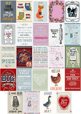 100% Cotton Comical Humorous Tea Towel Kitchen Wash Dry Dishes Keepsakes