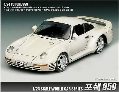 Academy 15103 1/24 World Famous Car Series PORSCHE 959 Plastic Kit NEW