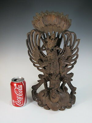 Antique Thai Carved Wood Figure - 10792