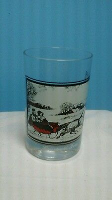 Currier And Ives Arby's Drinking Glass Dated 1978 1 Of 4 In The Series