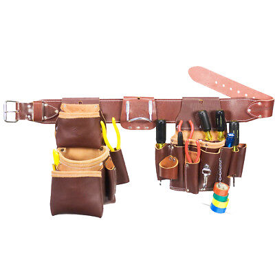 Occidental Leather 5036M Leather Pro Electrician Tool Belt Bag Set - Size Medium