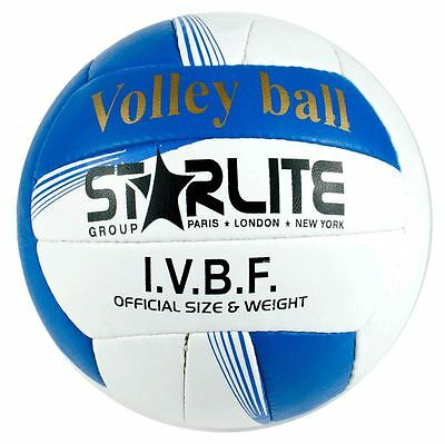 Starlite-Leather Match Beach Ball Volleyball Blue 64cm For All Surfaces-Size 5