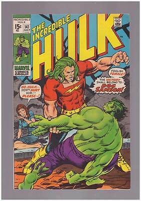 Incredible Hulk # 141  First appearance of Doc Samson  grade 8.0 scarce book !