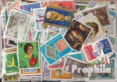 Paraguay 500 different stamps