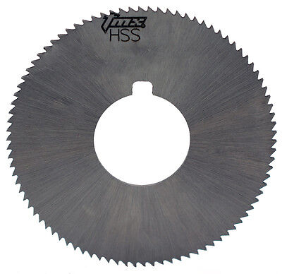".064"" Thick x 1-3/4"" Diameter x 5/8"" Arbor Hole 90 Teeth HSS Screw Slotting Saw"