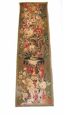 Antique French Floral Tapestry Hanging Early 19th Century