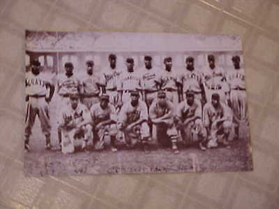Vintage Black Americanna Repo Poster ~ Negro Baseball Players ~ 16⅞ x 11-inches