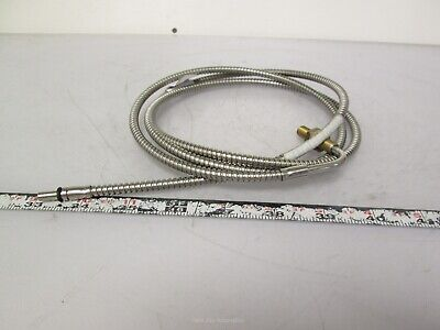 "Tri-Tronics F-A-60TR Fiber Optic Cable 60"" Stainless Steel 0.125"" Bundle 90° End"