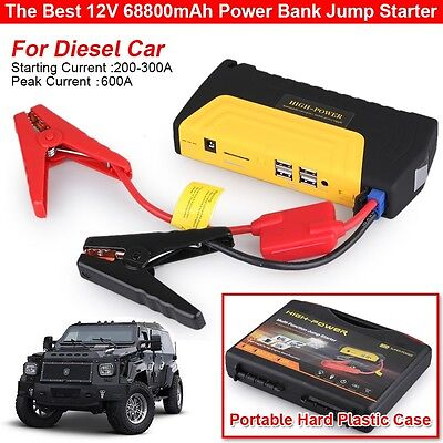 68800mAh Portable Car Jump Start Starter Pack Booster Charger Battery Power Bank