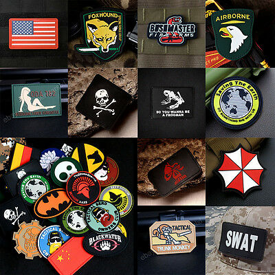 Many Styles USA Army Military Tactics Patch Airsoft Morale Badge PATCH