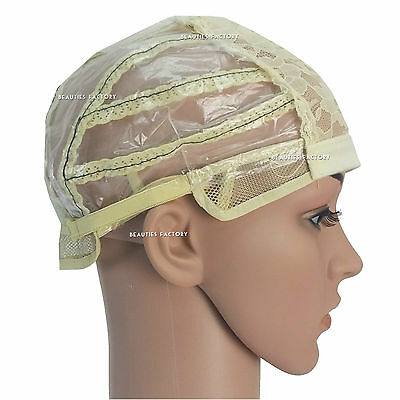 1 x Adjustable Straps DIY Wig Making Weaving Cap Feature Lines at the back 1232G