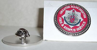 Greater Manchester Fire and Rescue Service Lapel pin badge