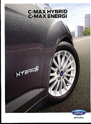 2015 Ford C-Max Energi Hybrid 24-page Original Car Sales Brochure Catalog