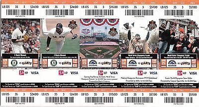 2015 SAN FRANCISCO GIANTS SEASON TICKET STUB PICK YOUR GAME POSEY BUMGARNER 2nd