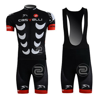 New Cool Men Cycling Bike Short Sleeve Jersey Bib Shorts Kits Bicycle Wear Suit