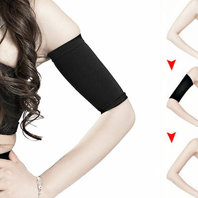 2X Ladies Slimming Weight Loss Arm Shaper Cellulite Fat Burner Wrap/Belt Black