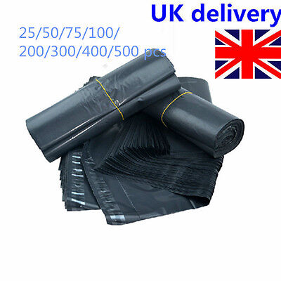 """9""""x12"""" Strong Dark Grey Plastic Postal Mailing Poly Postage Bags with Self Seal"""
