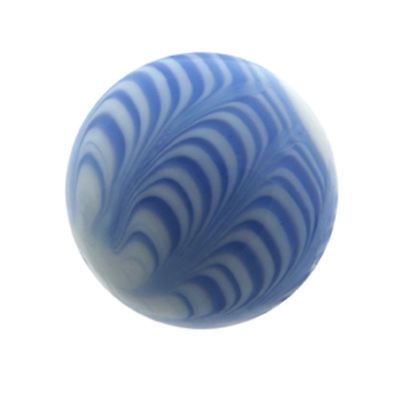 NEW SINGLE HANDMADE 25mm RIALTO BLUE MARBLE TRADITIONAL GAME COLLECTORS ITEM HOM