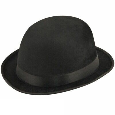 Old England Victorian Bowler Hat Black Adults Fancy Dress 1920s 1930s New