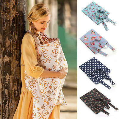 Mum Breastfeeding Nursing Cover Up Baby/Infant Poncho Shawl Udder Cotton Blanket