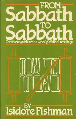 From Sabbath To Sabbath - Complete Guide To The Weekly Biblical Reading-VG