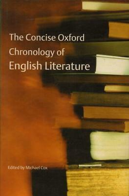 The Concise Oxford Chronology Of English Literature(Paperback Book)Mich-VG