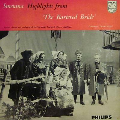 """Smetana(10"""" Vinyl)Highlights From The Bartered Bride-Phillips-65-VG+/NM"""