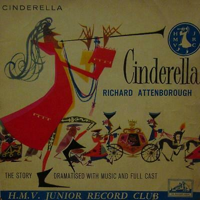 "Richard Attenborough(Green 7"" Vinyl P/S)Cinderella-HMV-7EG 116-UK-VG-/VG"