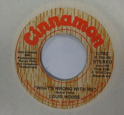 "Louis Hobbs (7"" Vinyl)What's Wrong With Me-Cinnamon-C 792-USA-VG/Ex"
