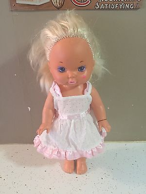 "Vintage 1988 Mattel Lil Miss Makeup 13"" Doll Cute! Gently Used Condition"
