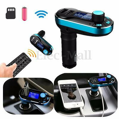 Bluetooth Radio Autoradio Transmetteur FM Lecteur MP3 USB SD Main Libre Voiture