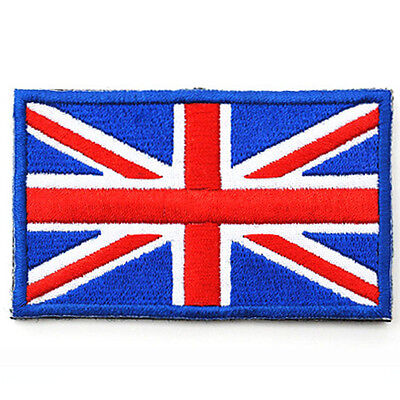 BRITISH Blue FLAG PATCH UNION JACK ENGLAND UK Embroidered GREAT BRITAIN PATCH