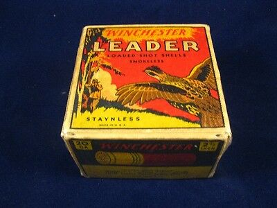 Winchester Leader Shot Shell Box (empty) 20 Gauge