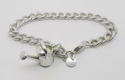 """Tiffany & Co. Sterling Silver Watering Can Charm Rope Bracelet 7.5""""  -  Lb-C0807"""
