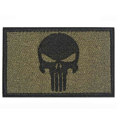Green Punisher Embroidery PATCH USA TACTICAL ARMY MILITARY BADGE PATCHES