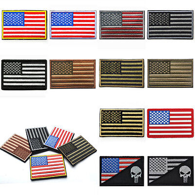 AMERICAN FLAG Embroidered Patch Patriotic USA Military Tactics Patches