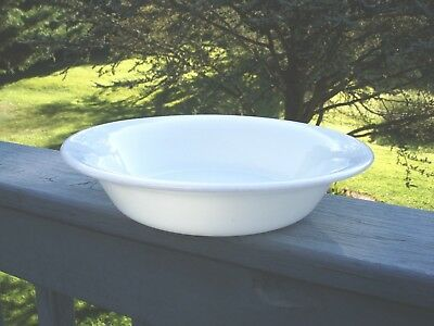 Vintage Corning White Serving Bowl With Glass Blower Logo Military Bowl 1951