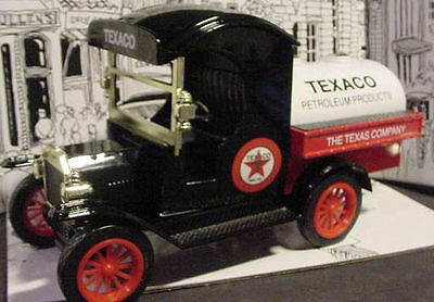 1912 Texaco Gas  Ford Oil Tanker Diecast Truck Bank Usa 1:24 Gearbox Model T New