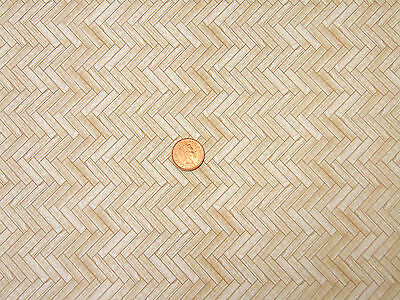 Dolls House Miniature Dark Parquet Floor Paper Accessory A3 (29.7cm x 43cm) W529