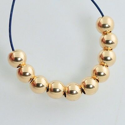 2.5mm 18k Solid Gold Smooth Round Bead Spacer (10)