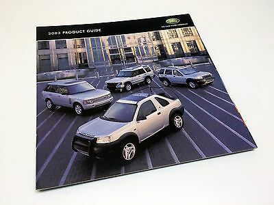 2003 Land Rover Freelander HSE Discovery Range Rover Full Line Preview Brochure