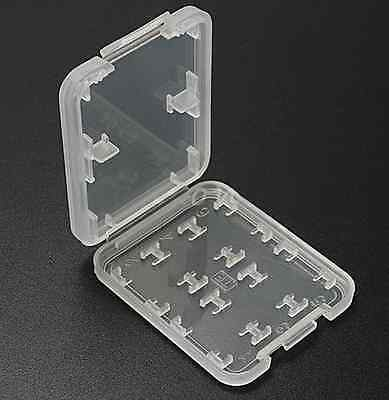 8 Slots Plastic Storage Holder Carrying Box Case For Micro SD MS Memory Card CAD