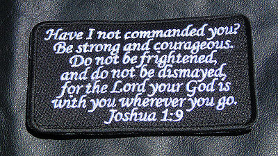 JOSHUA 1:9  ARMY COMBAT 4 INCH MORALE hook PATCH