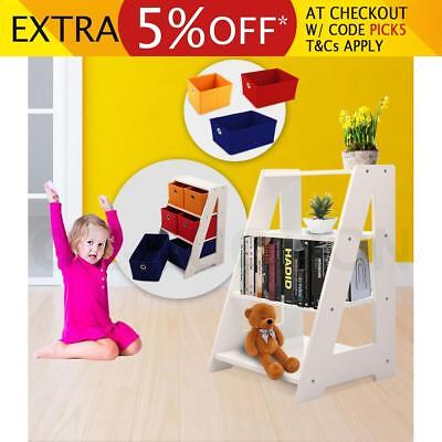 6 Drawer 4-Tier Timber Kids Toy Organiser Storage Rack Wooden Shelf Display Unit