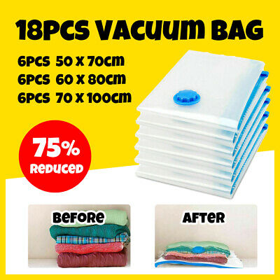 18X Vacuum Storage Bags Saver Seal Compressing Space Saving Experts   42.64