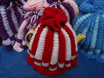 Traditional small vintage style tea cosy hand knitted in Wales colour choice